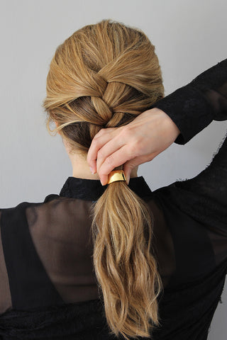 Step 3_2-Minute French Braid for Wavy Hair