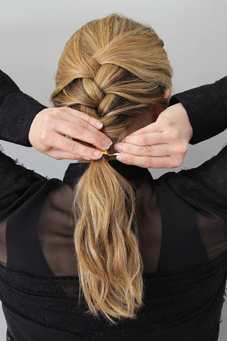Step 4_2-Minute French Braid for Wavy Hair