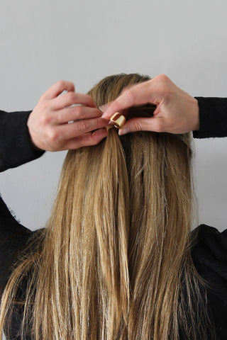 Step 4 - Polished Half-Up Hairstyle for Straight Hair