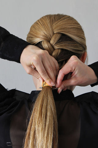 Step 4_Ridiculously Easy Polished French Braid Hairstyle