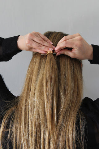 Step 5 - Polished Half-Up Hairstyle for Straight Hair