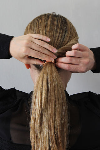 Step 7 - The Polished Low Ponytail for Medium/Long Hair
