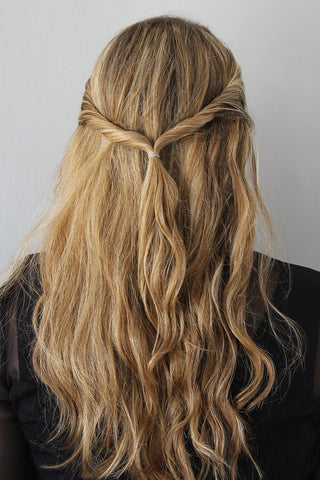 The Easy Twisted Half-Up Hairstyle for Wavy Hair Step 4