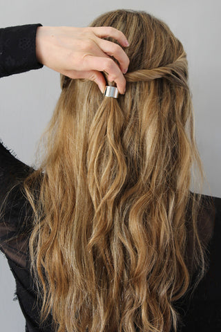 The Easy Twisted Half-Up Hairstyle for Wavy Hair Step 5