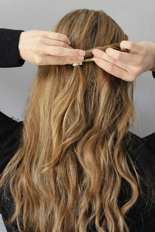 The Easy Twisted Half-Up Hairstyle for Wavy Hair Step 6