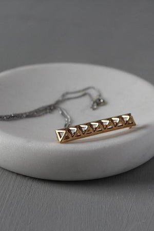 The 3D Pyramid Barrette / Pendant
