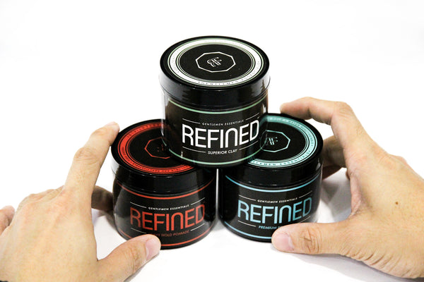 Heavy Hold Pomade, Strong Hold, High Shine, Long Lasting | Hair Pomade | Refined Supply |  Hair Clay | Premium Pomade | Gentlemen Essential
