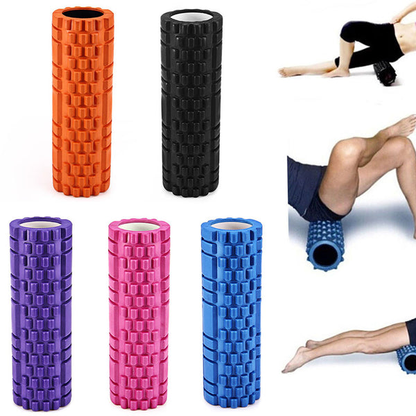 High Density Foam Roller (5 Colors) - Grid for Deep-Tissue Massage and Trigger-Point Muscle Therapy