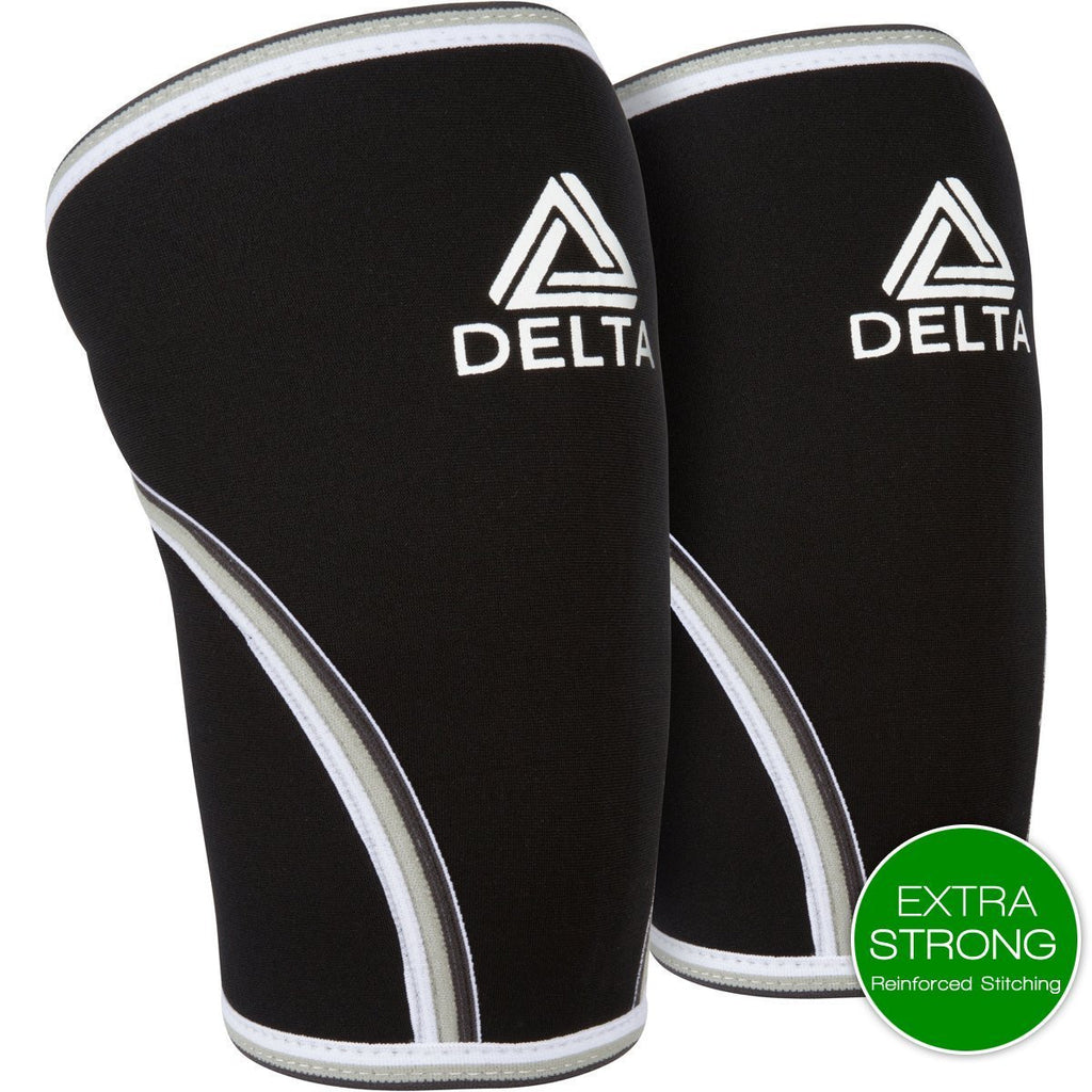 Knee Sleeve - Knee Sleeves (Pair) - Best Compression & Support For Crossfit, Weightlifting, & Powerlifting