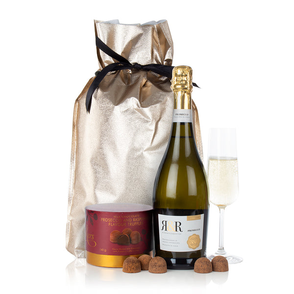 Prosecco and French Chocolate Truffles
