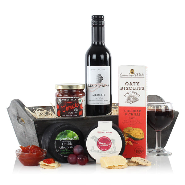 Cheese & Wine Tray  (UK DELIVERY ONLY)