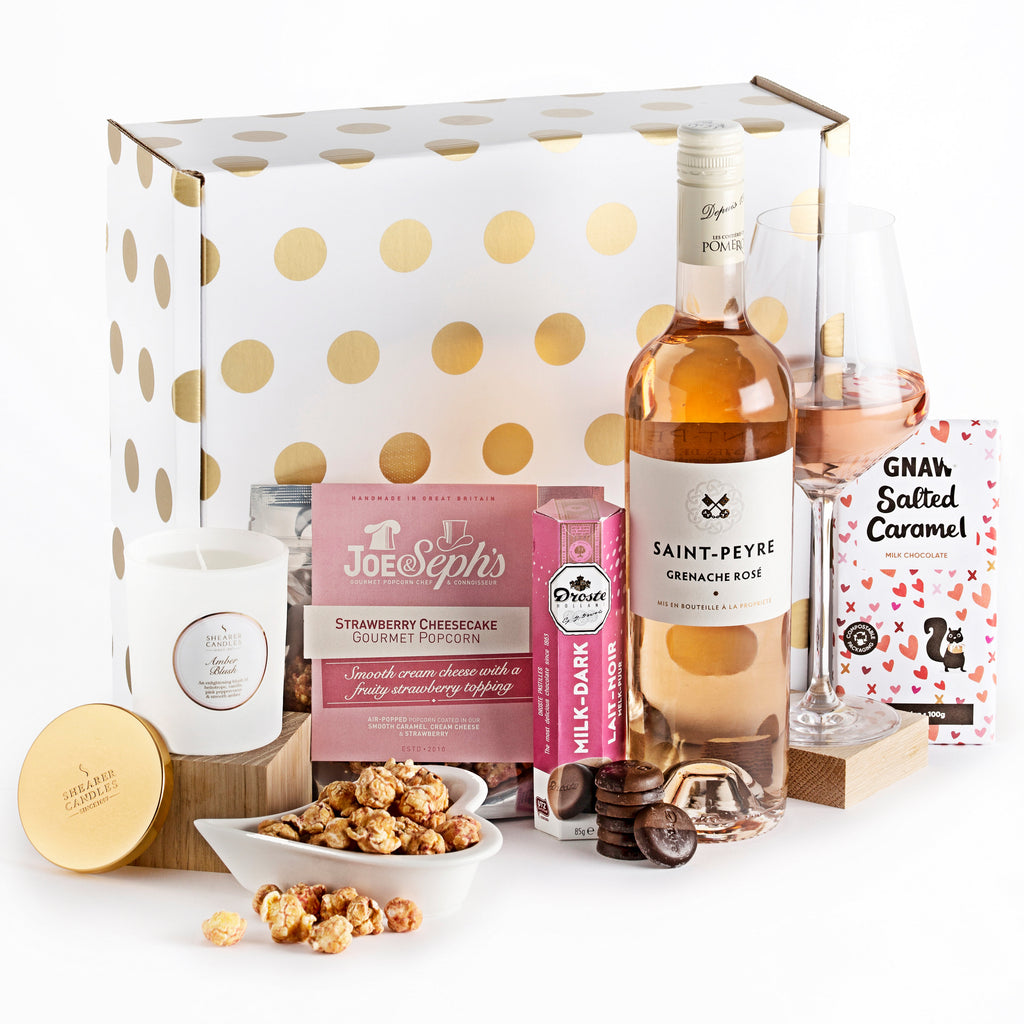 St. Peyre Grenache Rose and Candle Gift