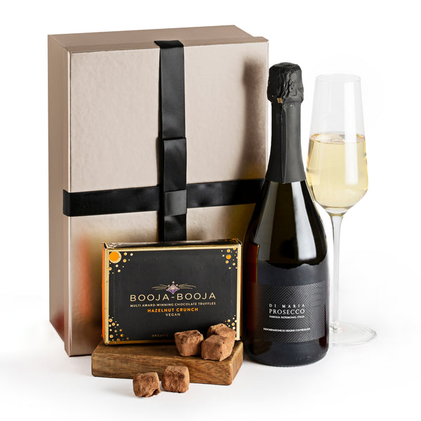 Prosecco and Hazelnut Crunch Chocolate Truffles