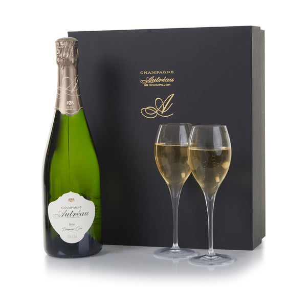 Luxury Champagne and Glasses Gift Set