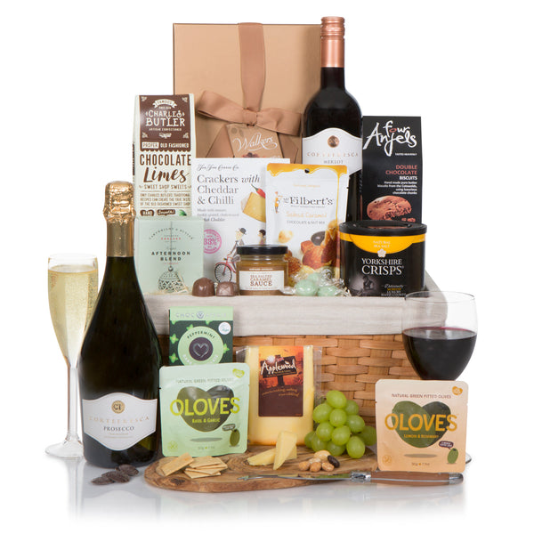 Classic Wine & Cheese Gift Basket