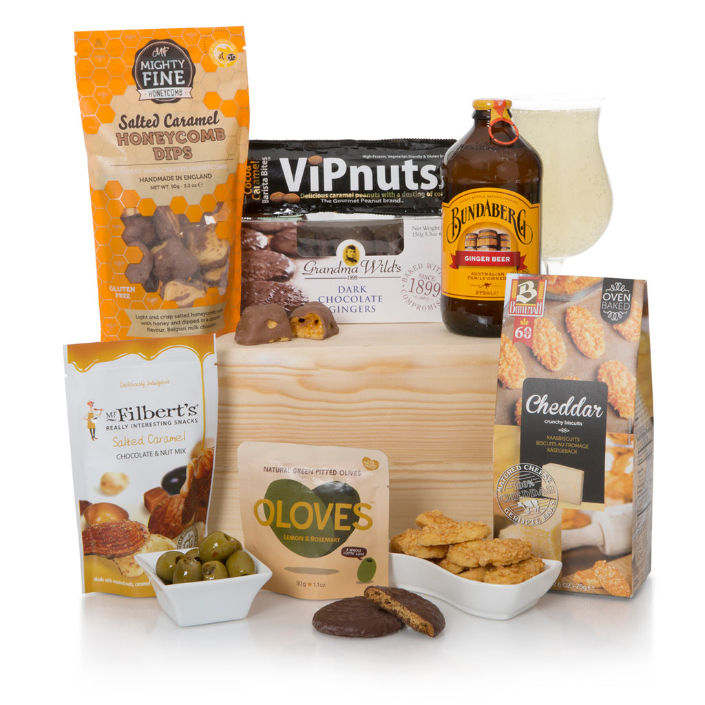Alcohol - Free Beer and Snacks Gift