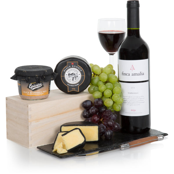 Wine, Cheese and Gourmet Pate Gift Box