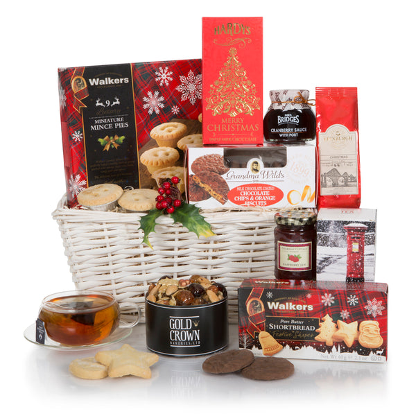 White Christmas Gift Basket