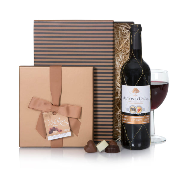 Classic Chocolate Gift Box and Grand Reserva Tinto