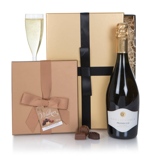 Cortefresca Prosecco and Assorted Chocolates Gift Box