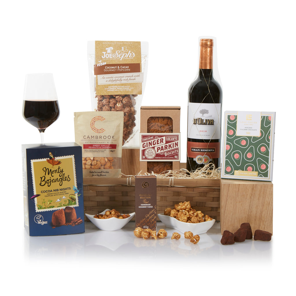 Vegan Gift Basket with Wine