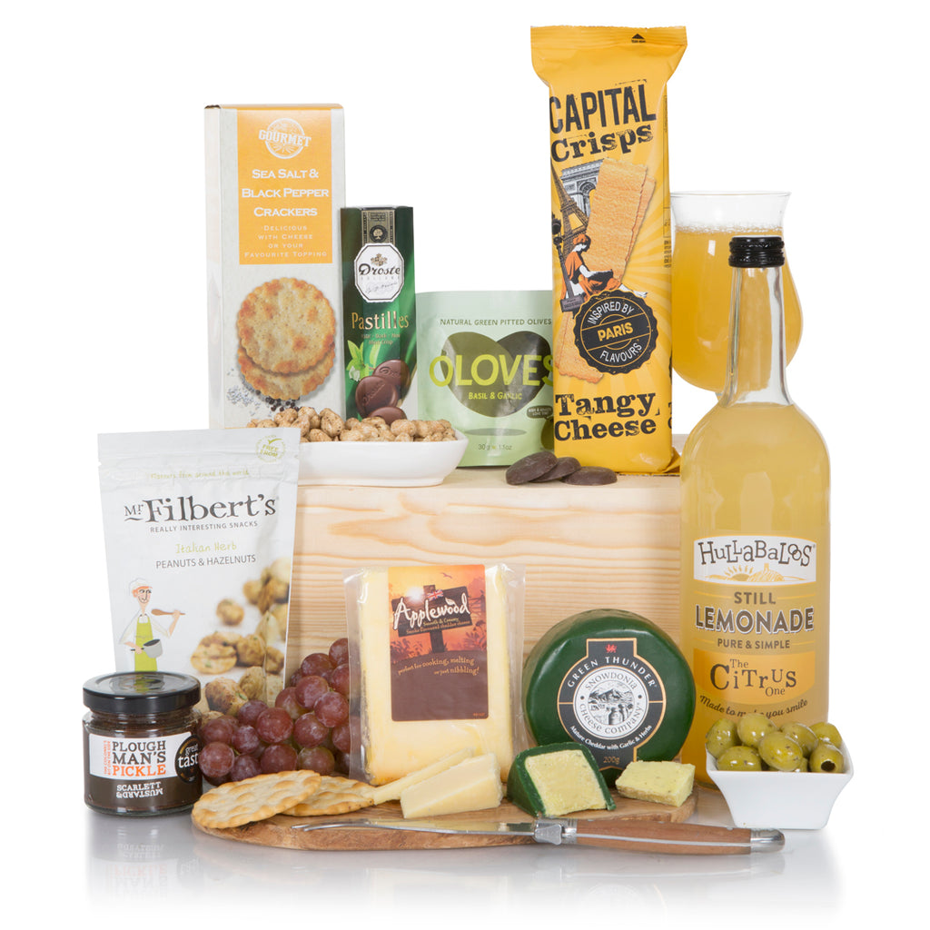 Alcohol - Free Gift with Cheeses and Snacks