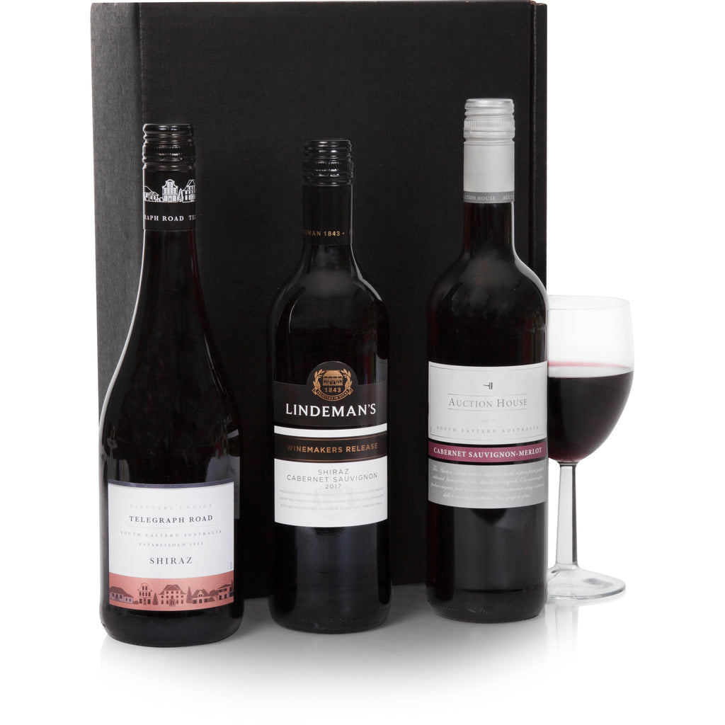 Three Bottle Australian Red Selection Gift