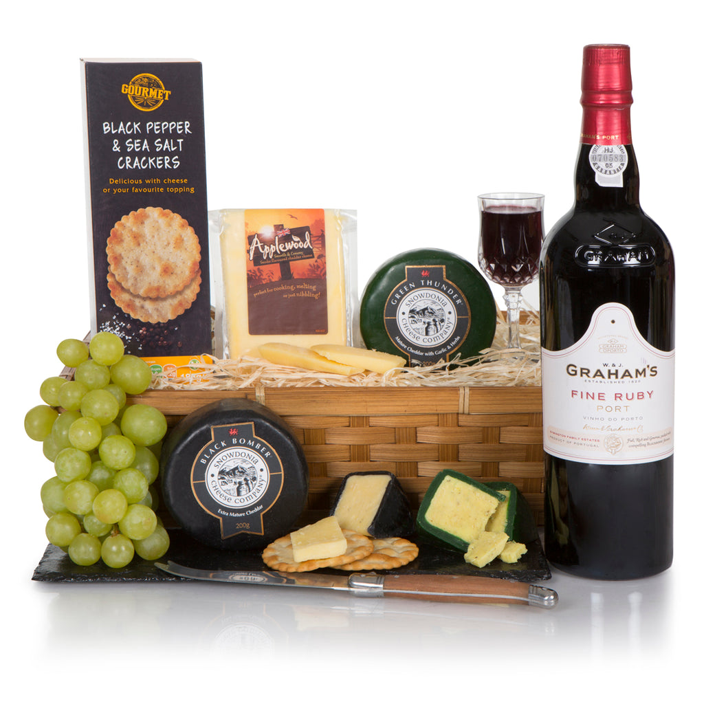 Port with Gourmet Cheese and Crackers