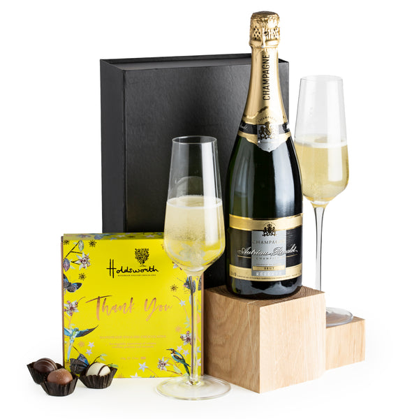 Champagne and Gourmet Thank You Chocolates