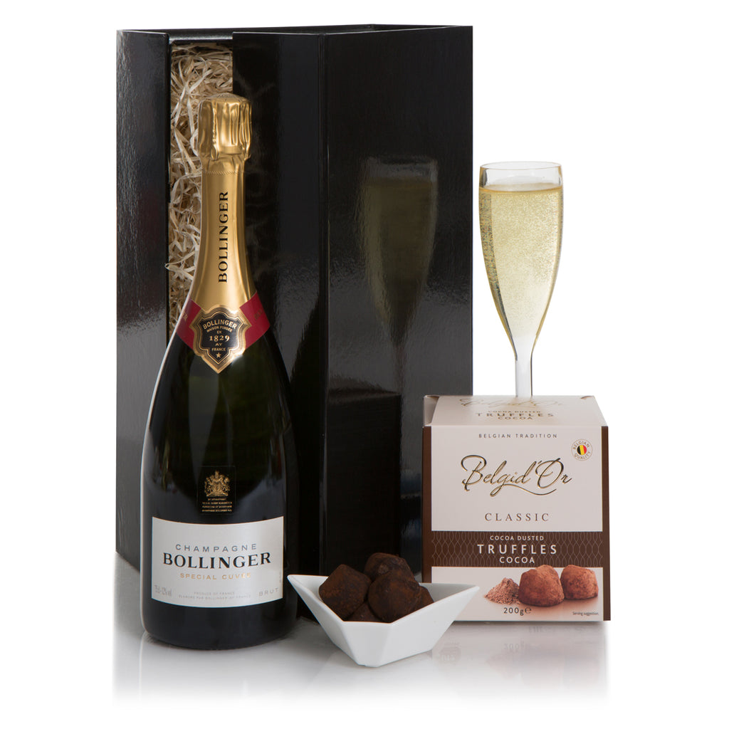 Bollinger Champagne and Belgian Chocolate Truffles