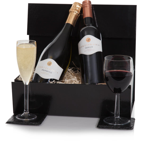 Cortefresca Prosecco and Merlot Gift