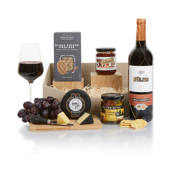 Classic Wine and Cheese Gift Basket
