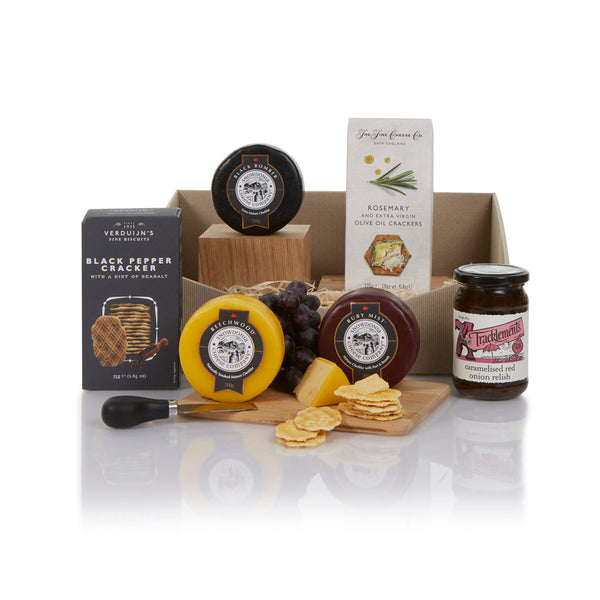 Gourmet Cheese and Crackers Selection