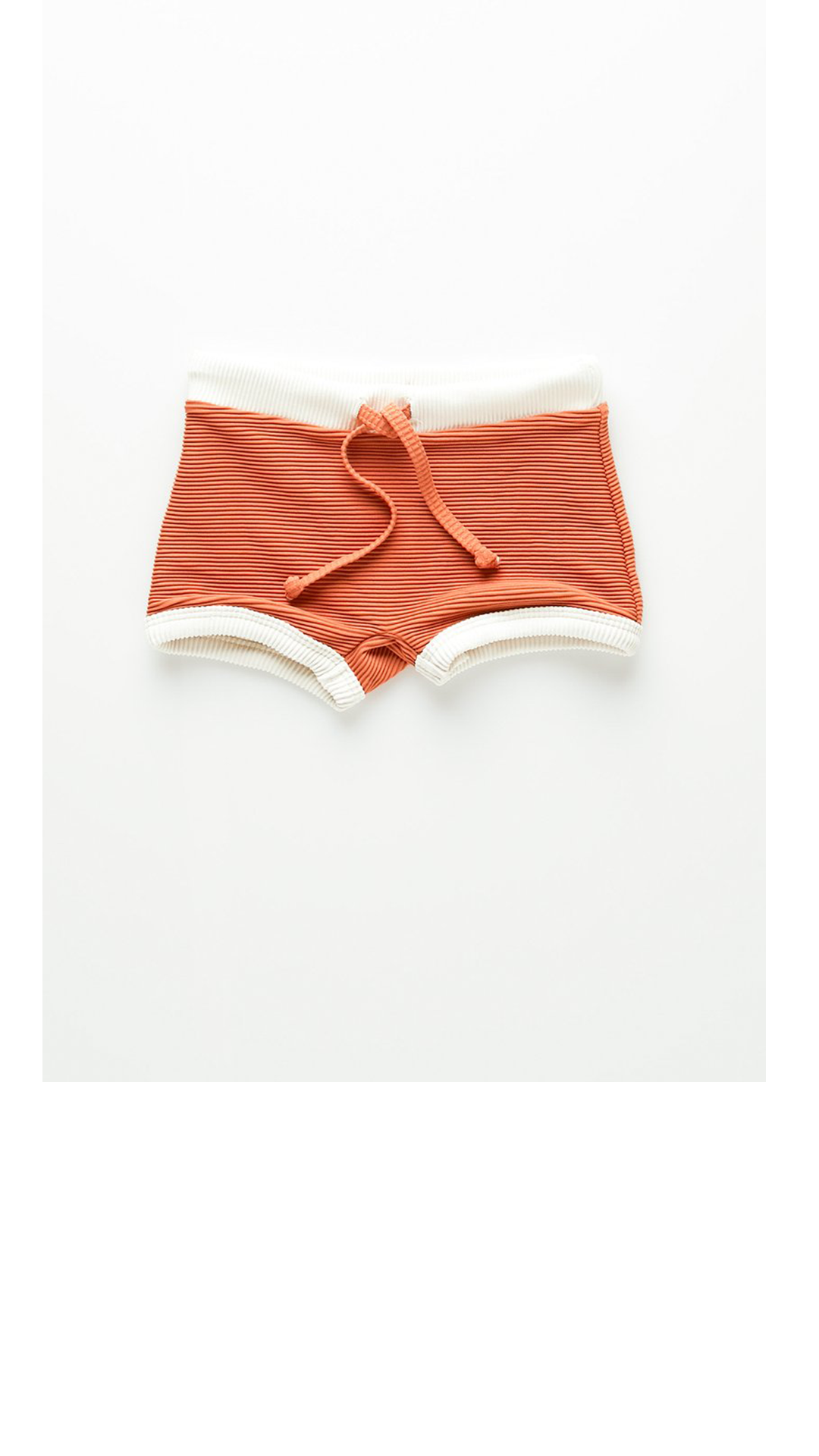 Mini Rib Boy Short - Rust
