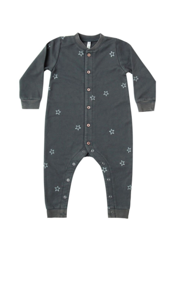 Star Embroidered Long John - Midnight