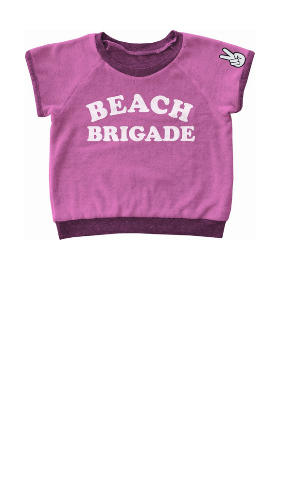 Beach Brigade Sweatshirt - Bubblegum Terry Cloth