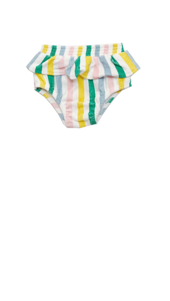 french terry pastel stripe ruffle bloomers