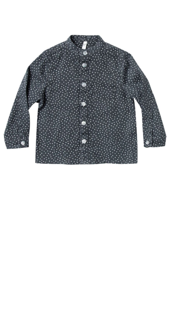 Dot Mock Neck Shirt - Midnight