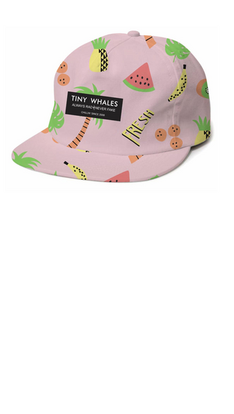 Pink Fruit Printed kids snapback hat