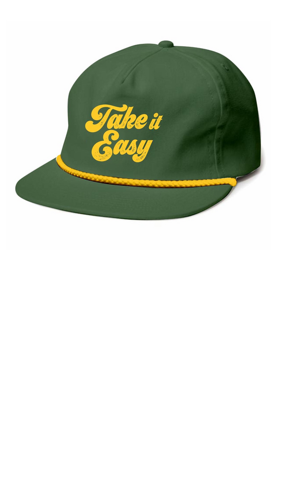 Take it East Snap Back - Olive Nylon