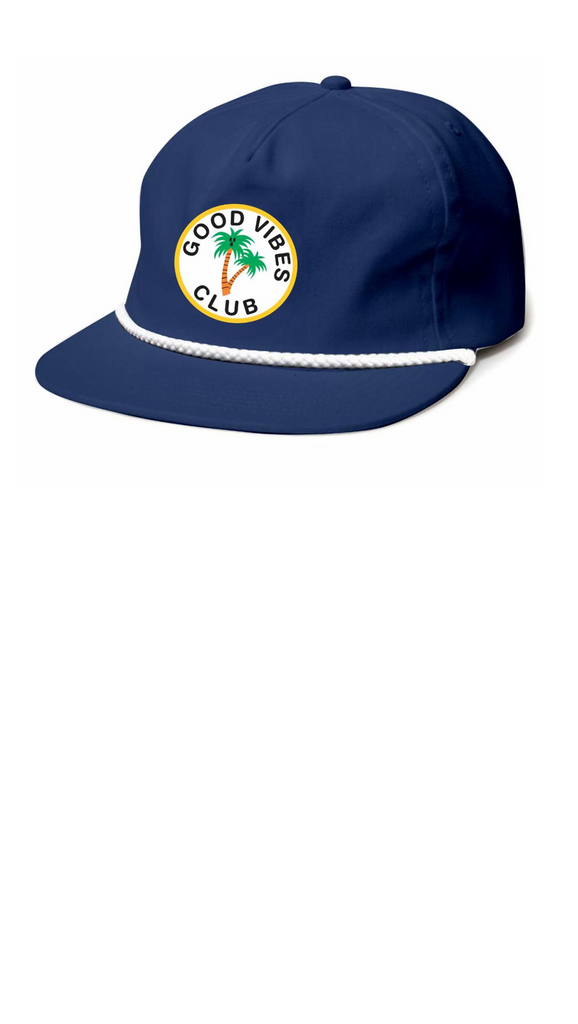 Good Vibes Club Snap Back - Navy Nylon