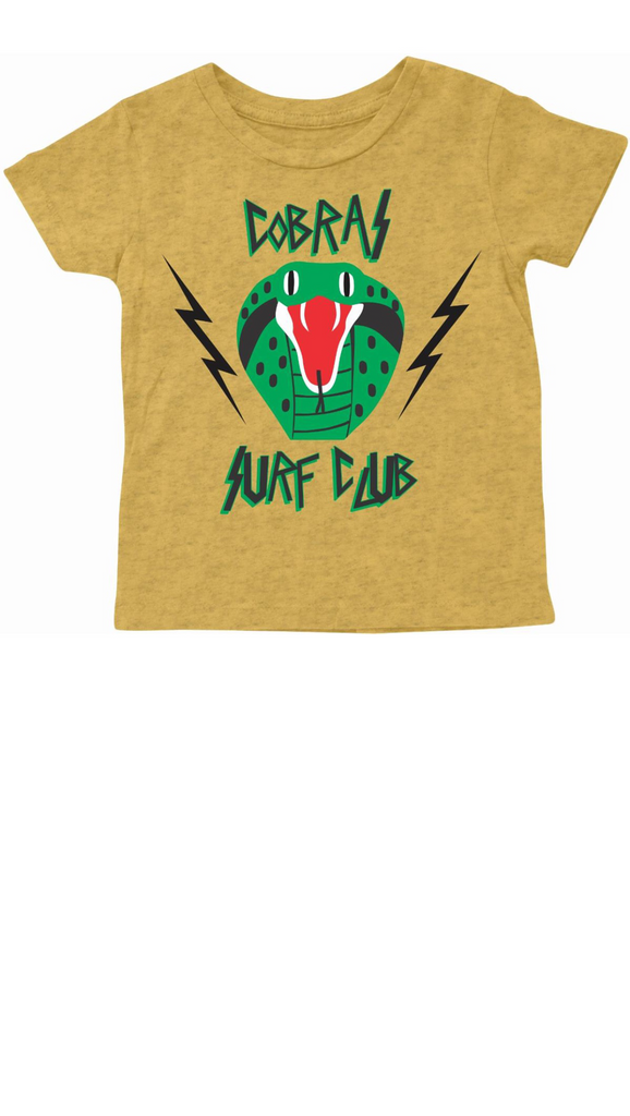 Cobra Surf Club Tee - Gold Ash