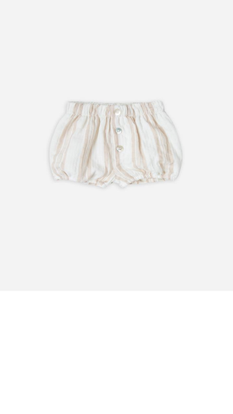 Sand Stripe Button Short - Sand/Coconut