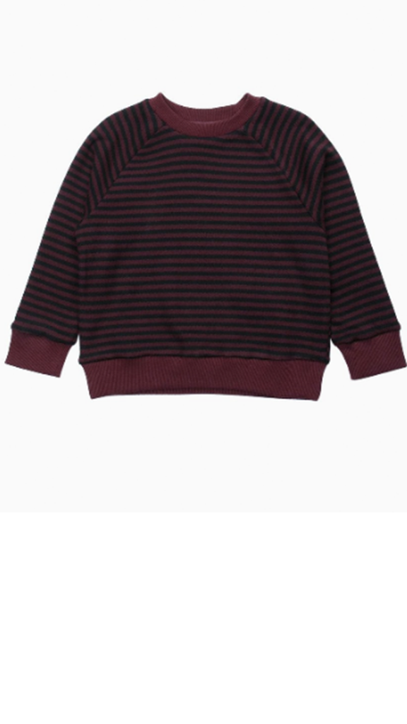 Damien Long Sleeve Sweater - Maroon