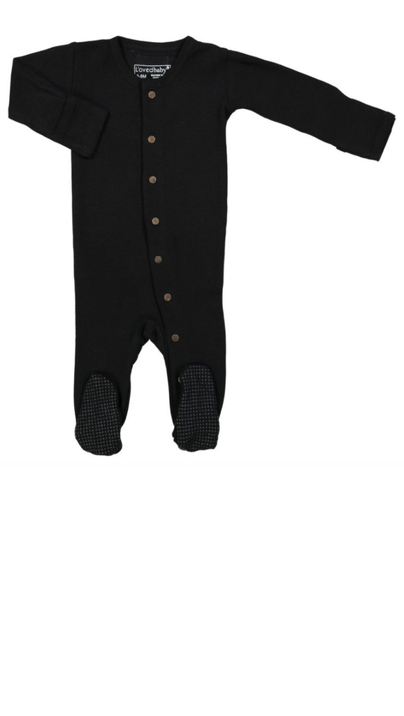 Organic Thermal Gloved Sleeve Overall - Black