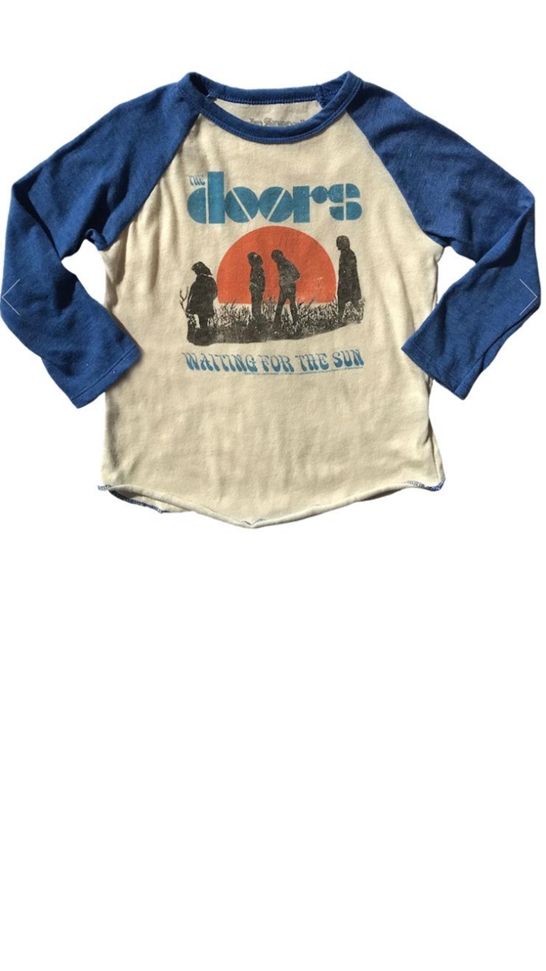 The Doors Raglan Tee - Cream/Royal Blue