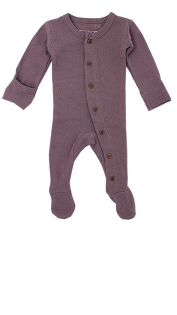 Organic Thermal Footed Overall - Amethyst