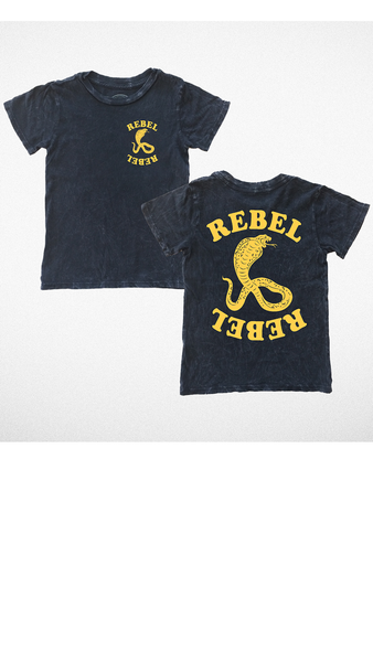"""Rebel Rebel"" Tee - Mineral Black"