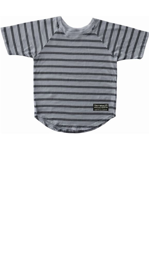 Stripe Raglan Basic - Gray Stripe
