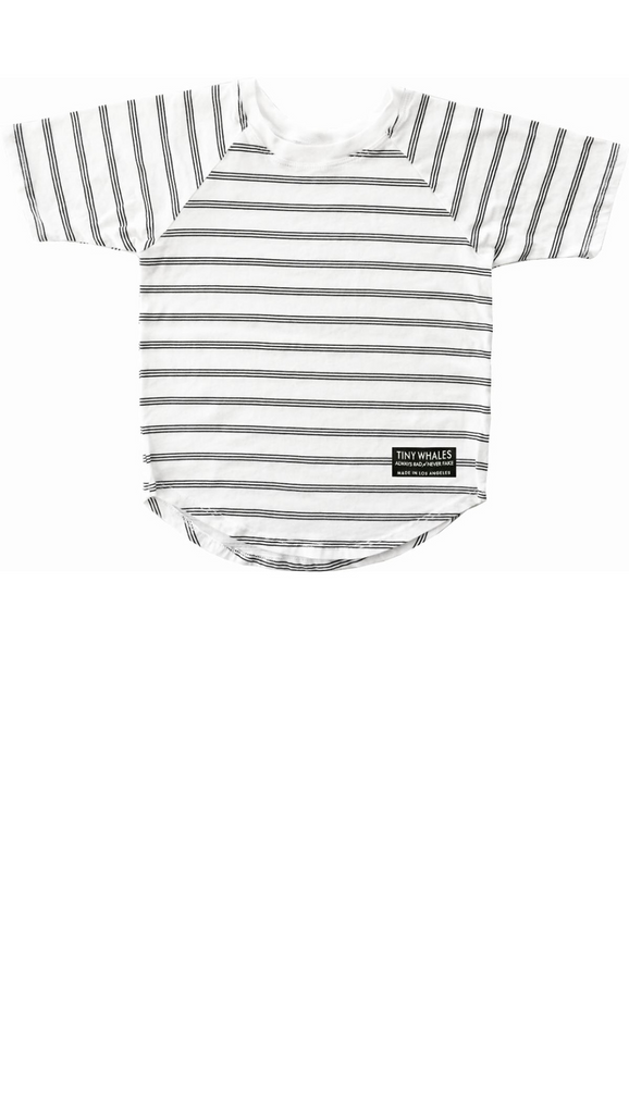 Stripe Raglan Basic - White Stripe